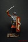 Рим. Легионер в бою - Оловянный солдатик коллекционная роспись 54 мм. Все оловянные солдатики расписываются художником вручную