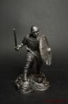 Воин 800 г. - Не крашенный оловянный солдатик. Высота 54 мм