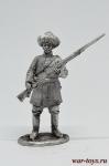 Егерь 16-го полка генерал-майора Лихачева 1803 - Оловянный солдатик. Чернение. Высота солдатика 54 мм