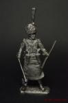 Сапер 1-го неаполитанского полка Реал Африка 1812-15 год - Оловянный солдатик. Чернение. Высота солдатика 54 мм