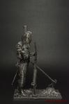 Сапер 3-го Швейцарского полка Франция 1812 - Оловянный солдатик. Чернение. Высота солдатика 54 мм