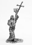Монах - Не крашенный оловянный солдатик. Высота 54 мм.