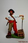 Пираты. Флибустьер 17 век - Оловянный солдатик коллекционная роспись 54 мм. Все оловянные солдатики расписываются художником вручную