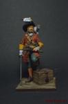 Пираты. Флибустьер с добычей 17 век - Оловянный солдатик коллекционная роспись 54 мм. Все оловянные солдатики расписываются художником вручную