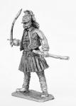 Офицер 2-го полка легкой греческой пехоты на британской службе, - Не крашенный оловянный солдатик. Высота 54 мм.