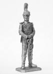 Офицер 3 полка шеволежер-уланов Наполеона 1811-13 - Не крашенный оловянный солдатик. Высота 54 мм.