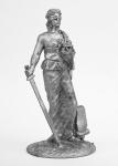 Фемида - Не крашенный оловянный солдатик. Высота 54 мм.