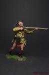 Индеец - Оловянный солдатик коллекционная роспись 54 мм. Все оловянные солдатики расписываются художником вручную