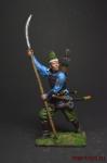 Асигару. Япония, 15-16 век - Оловянный солдатик коллекционная роспись 54 мм. Все оловянные солдатики расписываются художником вручную