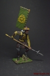 Асигару. Япония, 1500-1600 - Оловянный солдатик коллекционная роспись 54 мм. Все оловянные солдатики расписываются художником вручную