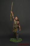 Индеецы. Воин Гурон - Оловянный солдатик коллекционная роспись 54 мм. Все оловянные солдатики расписываются художником вручную