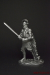 Рыцарь, 1440 год - Не крашенный оловянный солдатик. Высота 54 мм
