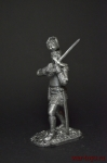 Рыцарь, 1420 год - Не крашенный оловянный солдатик. Высота 54 мм