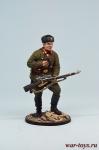 Снайпер 1047-го стрелкового полка Зайцев В., осень 1942 г. СССР - Оловянный солдатик, роспись 54 мм. Все оловянные солдатики расписываются мастером в ручную