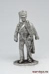Рядовой 1-го гусарского полка Российско-германского легиона 1812 - Не крашенный оловянный солдатик. Высота 54 мм.