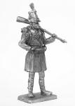 Стрелок 1 батальона испанского полка Валенсия 1808 год - Не крашенный оловянный солдатик. Высота 54 мм