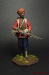 Сержант 15-го Бенгальского полка Британской Индии, 1890-98 гг. - Оловянный солдатик коллекционная роспись 54 мм. Все оловянные солдатики расписываются художником вручную