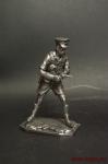 Сержант 8-ой Британской армии,Африка,1941-42 - Оловянный солдатик. Чернение. Высота солдатика 54 мм