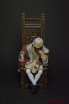 Людовик XI, король Франции, 1461 — 1483 год. - Оловянный солдатик коллекционная роспись 54 мм. Все оловянные солдатики расписываются художником вручную