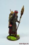 Баба Яга - Оловянный солдатик коллекционная роспись 54 мм. Все оловянные солдатики расписываются художником в ручную