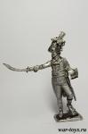 Генерал Клебер - Оловянный солдатик. Чернение. Высота солдатика 54 мм
