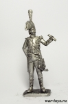 Офицер гидов Наполеона, 1799 г. - Оловянный солдатик. Чернение. Высота солдатика 54 мм