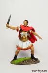 Гай Юлий Цезарь в битве при Мунде, 45 г. до н. э. - Оловянный солдатик коллекционная роспись 54 мм. Все оловянные солдатики расписываются художником в ручную