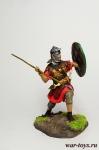 Тяжеловооруженный Римский Пехотинец, конец I - нач. II вв н.э. - Оловянный солдатик коллекционная роспись 54 мм. Все оловянные солдатики расписываются художником в ручную