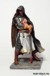 Сержант Ордена Тамплиеров 13 в. 90мм - Оловянный солдатик коллекционная роспись 90 мм. Все оловянные солдатики расписываются художником в ручную
