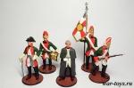 Набор оловянных солдатиков - Суворов - Набор оловянных солдатиков 5 шт. Высота солдатиков 54 мм.