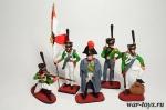 Набор оловянных солдатиков - Кутузов - Набор оловянных солдатиков 5 шт. Высота солдатиков 54 мм.