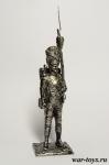 Рядовой Старой Императорской гвардии. Франция 1812 г - Оловянный солдатик. Чернение. Высота солдатика 54 мм