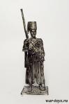 Запорожский казак. Россия, начало XVIII в. - Оловянный солдатик. Чернение. Высота солдатика 54 мм