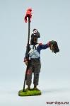 Рядовой пехотного полка революционной армии 1789-95 - Оловянный солдатик коллекционная роспись 54 мм. Все оловянные солдатики расписываются художником в ручную