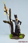 Боснийский офицер, уланский полк - Пруссия 1762 - Оловянный солдатик коллекционная роспись 54 мм. Все оловянные солдатики расписываются художником в ручную