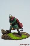 Раненный викинг - Оловянный солдатик коллекционная роспись 54 мм. Все оловянные солдатики расписываются художником в ручную