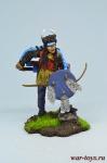 Индеец сиу - Оловянный солдатик коллекционная роспись 54 мм. Все оловянные солдатики расписываются художником в ручную