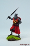 Средневековый рыцарь - первая половина XIV века - Оловянный солдатик коллекционная роспись 54 мм. Все оловянные солдатики расписываются художником в ручную
