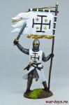 Рыцарь Ордена Святого Гроба Господнего Иерусалимского, 12 век - Оловянный солдатик коллекционная роспись 54 мм. Все оловянные солдатики расписываются художником в ручную