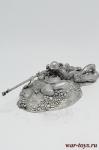 Бронебойщик - Оловянный солдатик. Чернение. Высота солдатика 54 мм