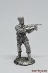 Немец-десантник, 1941 - Оловянный солдатик. Чернение. Высота солдатика 54 мм
