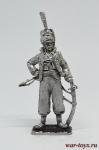 Офицер эскадрона литовских татар императорской гвардии 1812 - Оловянный солдатик. Чернение. Высота солдатика 54 мм