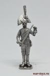 Унтер офицер прусского кирасирского полка 1806 год - Оловянный солдатик. Чернение. Высота солдатика 54 мм