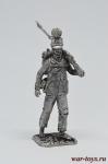 Фузелер баварской линейной пехоты 1812 год - Оловянный солдатик. Чернение. Высота солдатика 54 мм