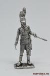 Майор баварского линейного полка 1812 год - Оловянный солдатик. Чернение. Высота солдатика 54 мм