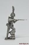 Австрийский егерь 1805 - Оловянный солдатик. Чернение. Высота солдатика 54 мм
