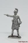 Офицер австрийского линейного полка 1805 год - Оловянный солдатик. Чернение. Высота солдатика 54 мм