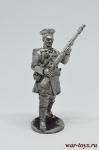 Лифляндский стрелок, 1812 - Оловянный солдатик. Чернение. Высота солдатика 54 мм