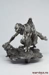 Девушка и чудовище - Оловянный солдатик. Чернение. Высота солдатика 54 мм