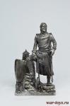 Рыцарь в походе, XIII век - Оловянный солдатик. Чернение. Высота солдатика 54 мм